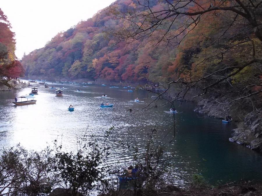 紅葉の嵐山・・京都府京都市