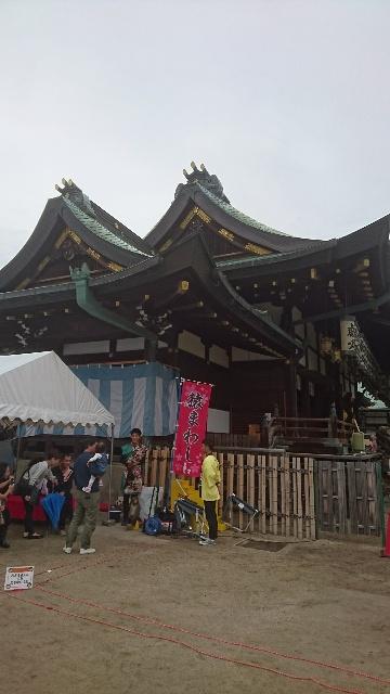 大阪天満宮境内にて「猿まわし」も