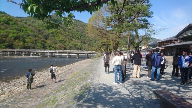 古都京都は嵐山、彼方におわすは渡月橋